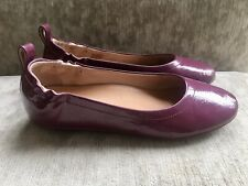 Womens Fitflop Allegro Crinkle Patent Ballerina Shoes In Lingonberry UK 6
