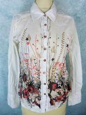 KAPORAL 5 Chemisier Taille M - Blanc -Manches longues - Fleur-Modèle Flamingo