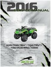 2016 Arctic Cat ATV 500 / 700 / 1000 TBX TRV Mud Pro service manual in binder