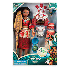 Authentic Disney Moana Singing Doll Set - 11'' With PUA HeiHei Figure
