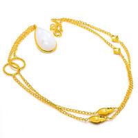 "Rainbow Moonstone Gemstone Handmade Ethnic Jewelry Necklace 18"" JH"