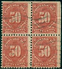 SCOTT # J-67 BLOCK OF 4, USED, SOME STAMPS STRAIGHT-EDGE, GREAT PRICE!