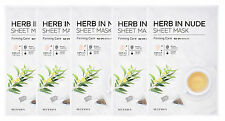 MISSHA (NEW) HERB IN NUDE SHEET MASK (Firming Care) 23gx5sheets - Korea Cosmetic