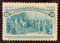 US Stamp Scott #238 Mint OG NH 15 Cents Columbian Expo 1893 Green