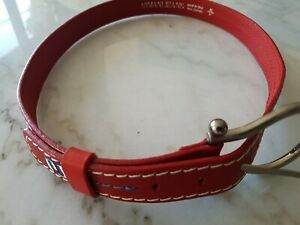 Red Leather Armani Jeans Belt Small-Med