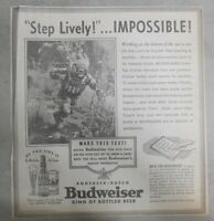 Budweiser Beer Ad: Deep Sea Diving ! from 1938 Size: 10 x 10 inches