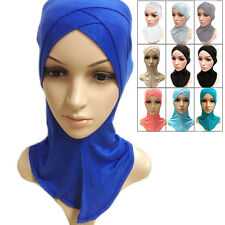 Colors Cotton Full Cover Inner Hijab Muslim Cap Islamic Head Wear Hat Underscarf