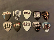 Lot of (10) Novelty Guitar Pick - U2 - Bono Group Band Photo Free! Fast!