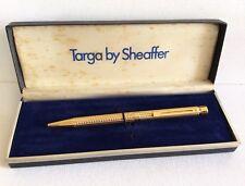 TARGA By SHEAFFER Gold Electroplated Ballpoint Pen Vintage W/Case Writing Men
