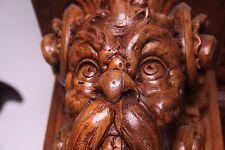 19C Venetian Carved Castle Corbels Gargoyles Extraordinaire