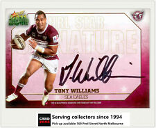 2011 Select NRL Champions NRL Star Signature Card SS2 Tony Williams (Manly) Rare