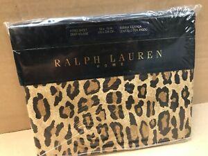 Ralph Lauren Home Bedding King Fitted Sheet 150cm x 200cm Leopard Print