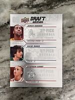 2009 Upper Deck Draft Edition James Harden Ricky Rubio Stephen Curry RC