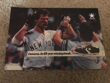 c36c83e66a6e7d Vintage 1988 DON MATTINGLY CONVERSE Poster Print Ad 1980s Baseball Cleats  HITMAN