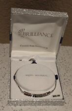Brilliance Silver Tone Happy Holidays Bracelet,Crystals from Swarovski Msrp $60