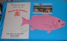 vintage Chesapeake Sea Food House Menu & Postcard Miami Florida seafood