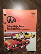 1973 GRIZZLY CATALOG DRUM BRAKE SHOE & DISC BRAKE SHOE SETS, Catalog 36 PG