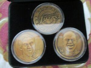 KOBE BRYANT SHAQUILLE O'NEAL LA LAKERS NBA LMT Ed Highland Mint Bronze Coin Set