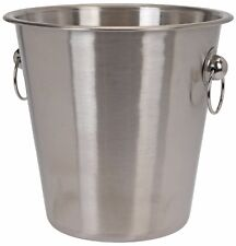 New Brushed Stainless Steel Silver Ice Bucket Wine Cooler Champagne Cooler