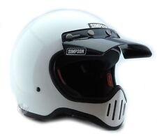 Simpson M50 Casco De Motocicleta punto aprobado Blanco Brillante M Mediano De 58 Cm 71/4