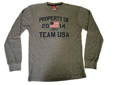 Team USA Team Apparel 2014 Gray Navy Thermal Long Sleeve Shirt Men's Size Large