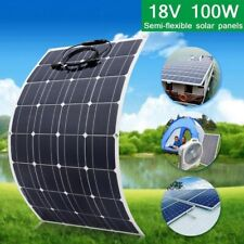 100W Flexible Solar Panel  Module for Caravan Boat Roof Car 12V Battery Charging
