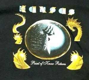 KANSAS Band  Point of Know Return Large Black T-Shirt (T2B)