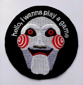 Saw Movie Embroidered Patch Horror Play Game Embroidery Patches Iron Sew On
