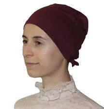 Muslim Women Cotton Hijab Bonnet Underscarf - Burgundy Red