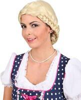 Ladies Blonde Plaited Wig Oktoberfest Bavarian German Beer Fancy Dress Costume