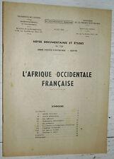 DOCUMENTATION FRANCAISE 1948 COLONIES AFRIQUE OCCIDENTALE FRANCAISE A.O.F.