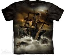 The Mountain T Shirt Batik deep Sea Octopus Piraten Legende Gr XXL