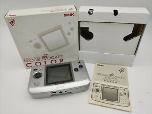 Es-Neo Geo Pocket Colour Console Silver Box Japan Used