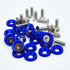 20 X Blue XYC Billet Aluminum Fender/Bumper Washer/Bolt Engine Bay Dress Up Kit