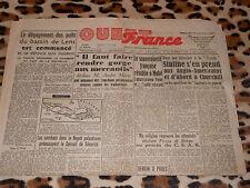 OUEST-FRANCE - Edition Manche-Sud - N° 1260 - Vendredi 29 Octobre 1948