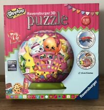 RAVENSBURGER 72 PIECE 3D JIGSAW PUZZLE - PUZZLEBALL - SHOPKINS - SEALED