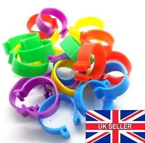 Large 20mm Birds RINGS Reusable Chicken Poultry Duck Quail Click Tags Clips Ring