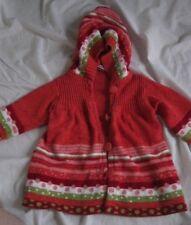 Clayeux stripe red orange green wool hoodie sweater 6m dot