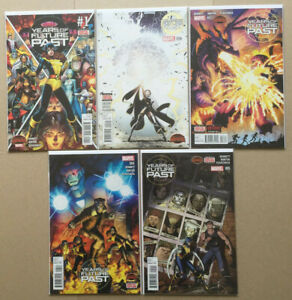 Years of Future Past 1-5 complete set, Secret wars, NM, bagged and boarded.