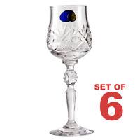 6 Crystal Liqueur Glasses. Faceted Vodka Shot Glasses Set of 6. 2 fl oz ea