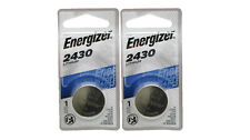 2 Pk Energizer CR 2430 CR2430 Lithium 3-Volt Coin Cell Batteries Exp. 2025