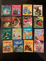 Golden Book Lot 16 Feat. 1970s Cartoon; Whales, Dinosaurs, Tootle, Scooby Doo