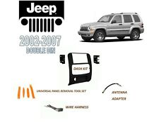 NEW 2002-2007 JEEP LIBERTY DOUBLE DIN CAR STEREO INSTALL DASH KIT, WIRE HARNESS