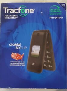 Tracfone  MyFlip 4G Prepaid Phone | Sim Card Included | Black - Brand New