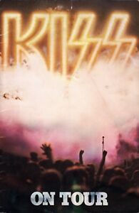 KISS 1976 DESTROYER CONCERT PROGRAM TOUR BOOK WITH KISS ARMY IRON-ON/ORDER FORM