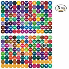 Etiquetas Adhesivas Varios Colores Para Tapas De Aceites Esenciales Youngliving