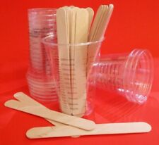 10 ea: 10 oz graduated measuring mixing CUPS & STIR STICKS envirotex epoxy resin