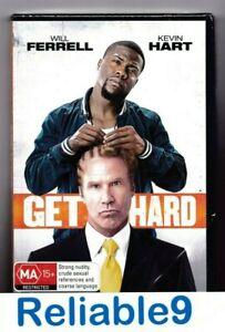 Will Ferrell+Kevin Hart- Get hard DVD+Gag Reel Sealed Region 4-2015 Roadshow AUS