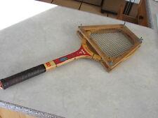 Wilson TopNotch SPEED-FLEX FIBRE FACE Vintage Wood Tennis Racquet Racket + Press