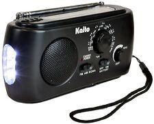 Kaito KA331 Weather Radio with AM/FM Flashlight Crank Power Black
